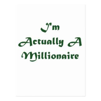 I'm A Millionaire Postcard