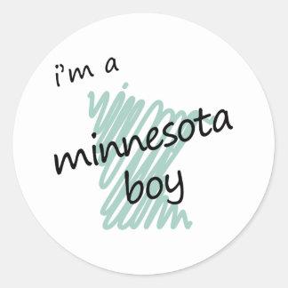 I'm a Minnesota Boy Classic Round Sticker