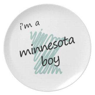 I'm a Minnesota Boy Melamine Plate