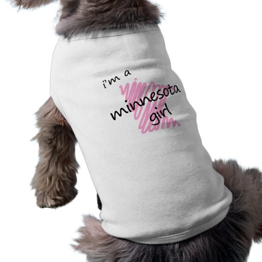 I'm a Minnesota Girl Dog Tee Shirt