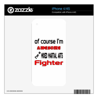 I'm a Mixed Martial Arts Fighter iPhone 4S Skins