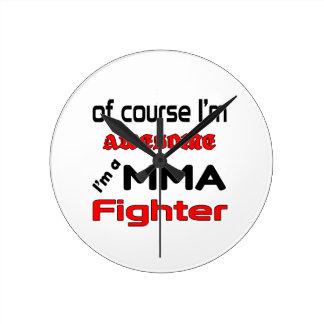 I'm a MMA Fighter Round Clock