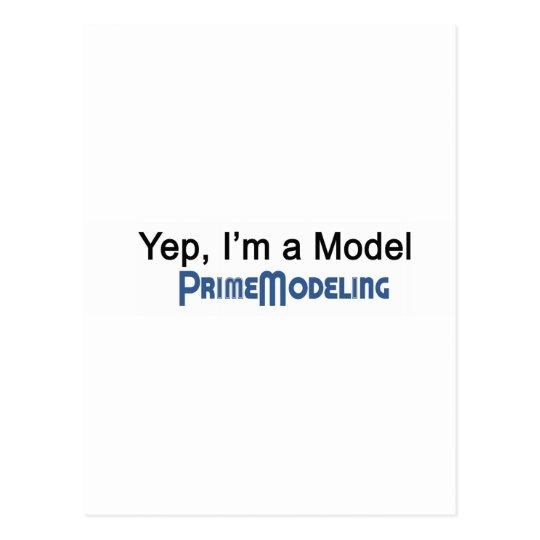 I'm a Model Prime Modeling Postcard