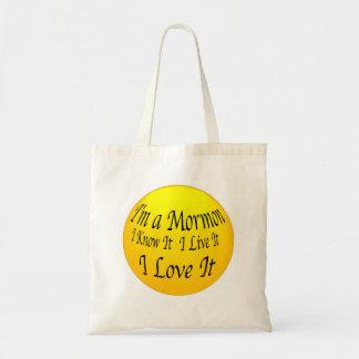 """I'm A Mormon"" Bag. Budget Tote Bag"