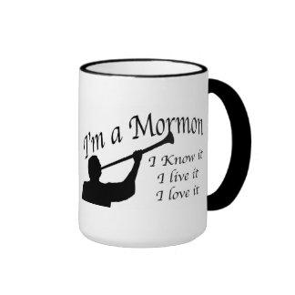 """""""I'm A Mormon"""" Mug. Ringer Coffee Mug"""