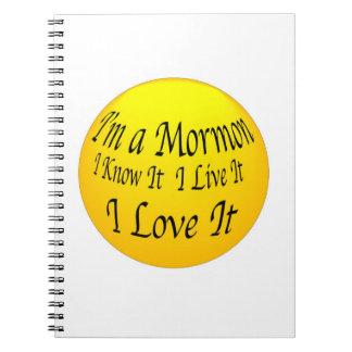 """I'm A Mormon"" Notebook."