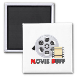 I'm A Movie Buff 2 Inch Square Magnet