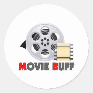 I'm A Movie Buff Classic Round Sticker