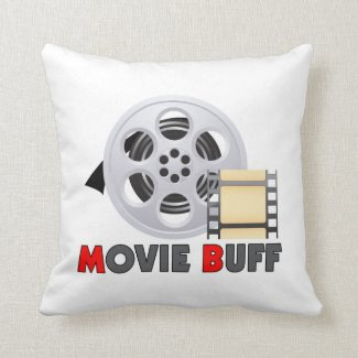 I'm A Movie Buff Throw Pillow