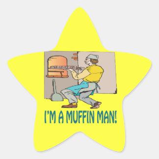 Im A Muffin Man Star Sticker