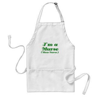 Im a Murse Man Nurse Adult Apron