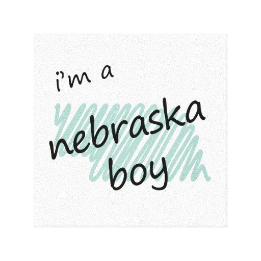 I'm a Nebraska Boy Canvas Print