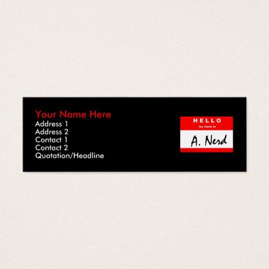 """i'm """"A. Nerd"""" skinny card"""