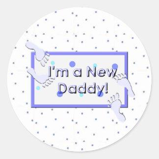I'm a new daddy classic round sticker