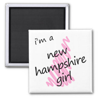 I'm a New Hampshire Girl 2 Inch Square Magnet