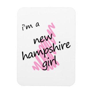 I'm a New Hampshire Girl Rectangular Photo Magnet