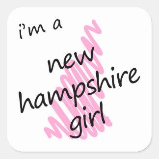 I'm a New Hampshire Girl Square Sticker