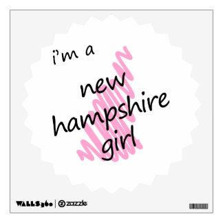 I'm a New Hampshire Girl Wall Sticker