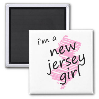 I'm a New Jersey Girl 2 Inch Square Magnet