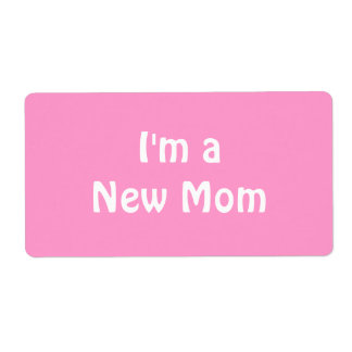 Im a New Mom Personalized Shipping Label