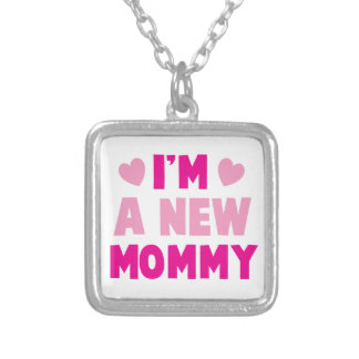 I'm a NEW MOMMY! Silver Plated Necklace