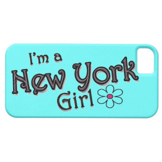 I'm a New York Girl, Flower, Blue iPhone Cover