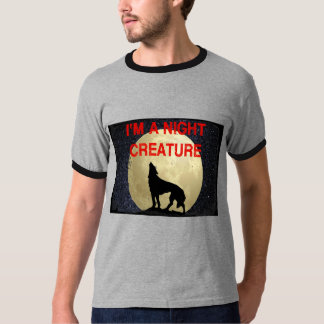 I'm A Night Creature Moon and Wolf T-Shirt