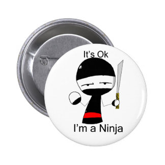 I'm A Ninja (button) Pinback Button