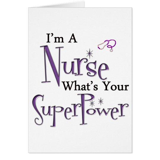 I'm A Nurse Card
