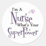 I'm A Nurse Classic Round Sticker