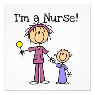 I'm a Nurse T-shirts and Gifts Custom Invitations