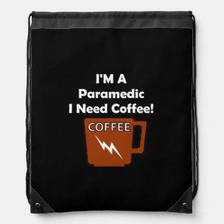 I'M A Paramedic, I Need Coffee! Drawstring Backpack