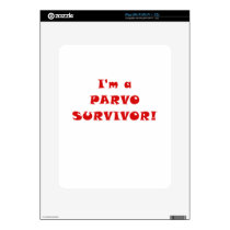 Im a Parvo Survivor Decal For The iPad