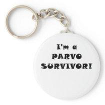 Im a Parvo Survivor Keychain