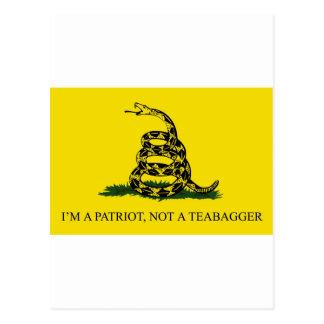 I'm a Patriot, Not a Teabagger Postcard