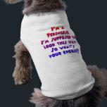 """&quot;I&#39;m a Pekingese&quot; Doggie Tee<br><div class=""""desc"""">&quot;I&#39;m a Pekingese&quot;  Doggie Tee- One of many cute &amp; humorous designs available from carnivalcutouts.com</div>"""
