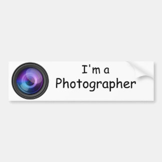 I'm a Photographer Bumper Sticker