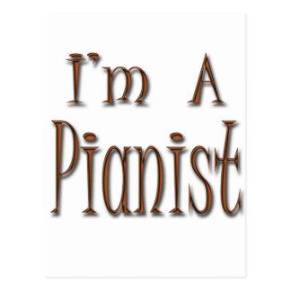 I'm A Pianist Postcard