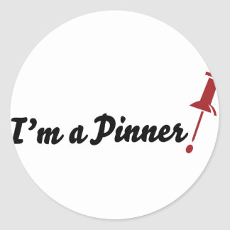 I'm a Pinner! Round Stickers