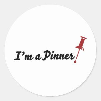 I'm a Pinner! Round Sticker