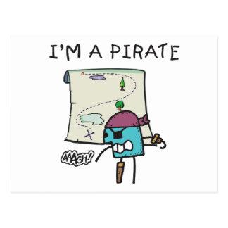 I'm A Pirate Kids Post Card