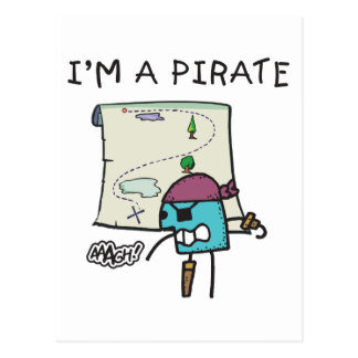 I'm A Pirate Kids Postcard
