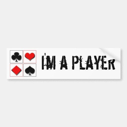I'm a Player Bumper Stickers