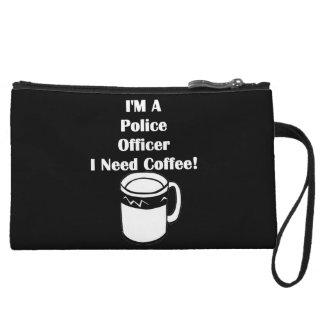 I'M A Police Officer, I Need Coffee! Wristlet
