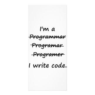 I'm a Programmer I Write Code Bad Speller Rack Cards