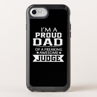 I'M A PROUD JUDGE'S DAD SPECK iPhone CASE