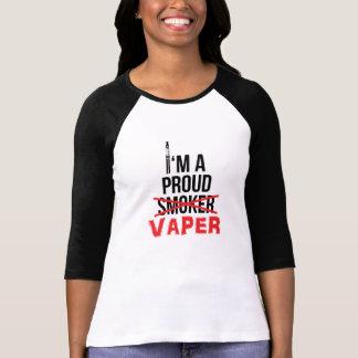 I'm A Proud Vaper - Womens Raglan 3/4 Sleeve Tee