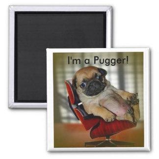 I'm a Pugger! 2 Inch Square Magnet