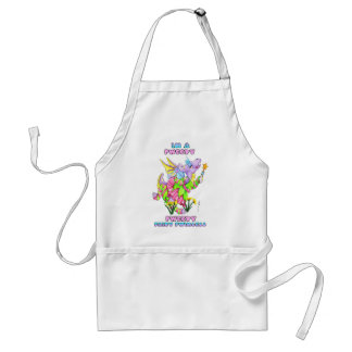 Im A pweety pweety fairy pwincess cute baby dragon Adult Apron