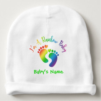 I'm A Rainbow Baby Beanie Hat